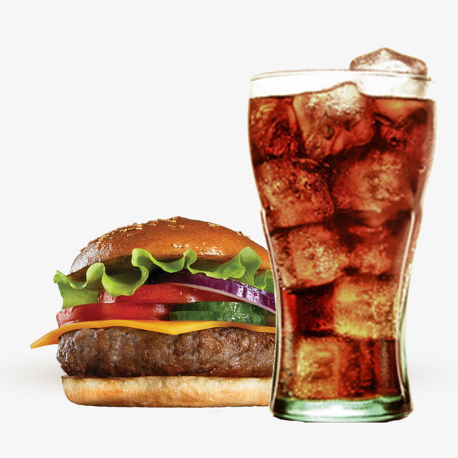 hamburger en cola
